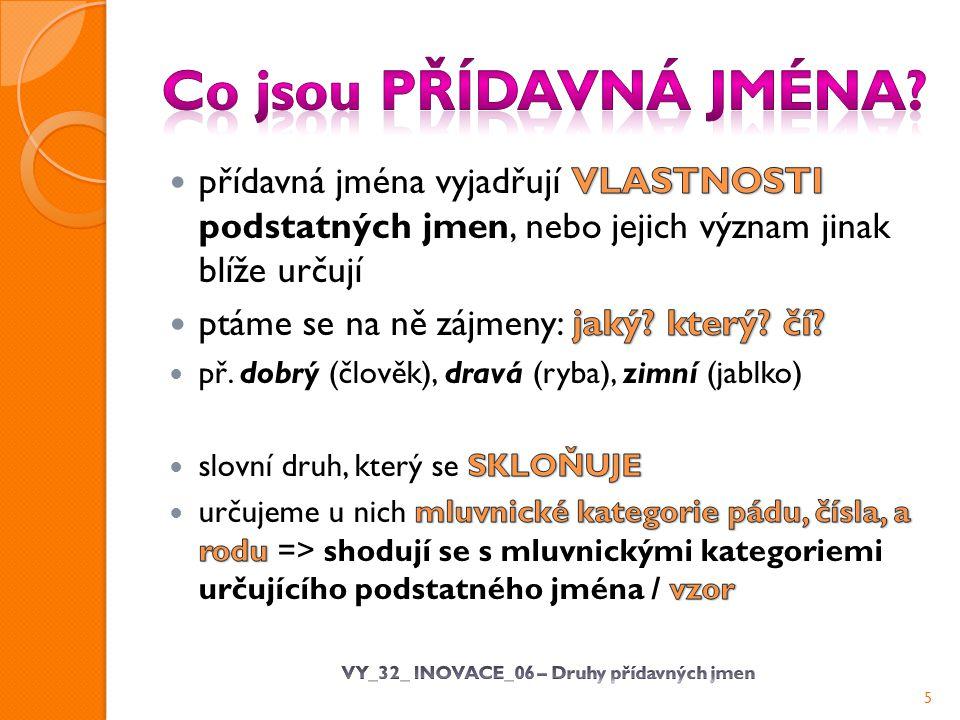 VY_32_ INOVACE_06 – Druhy přídavných jmen