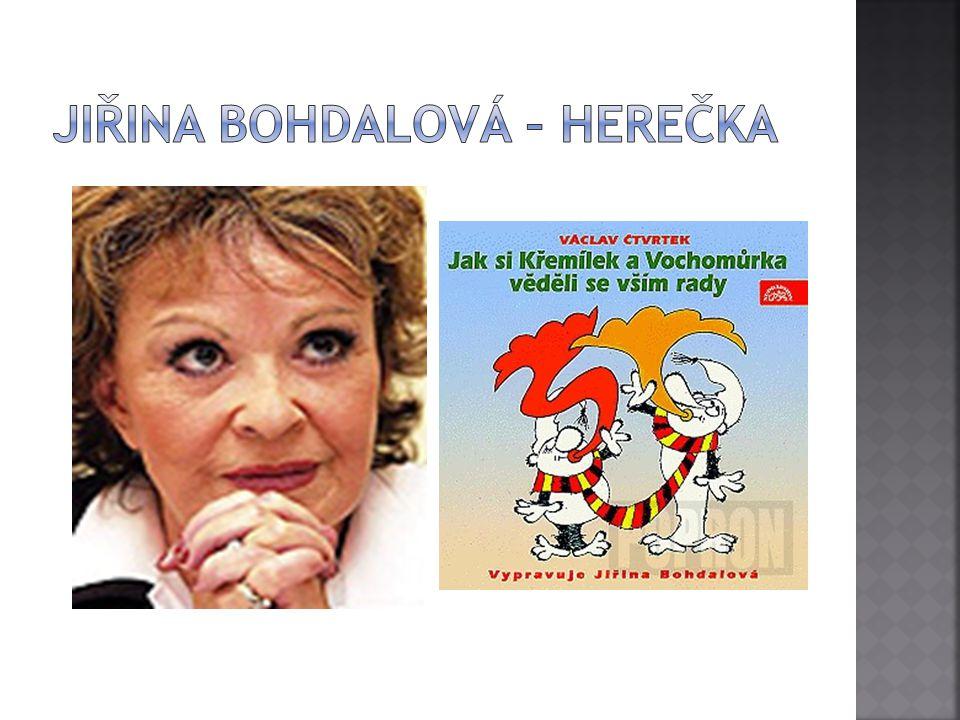 Jiřina Bohdalová – herečka