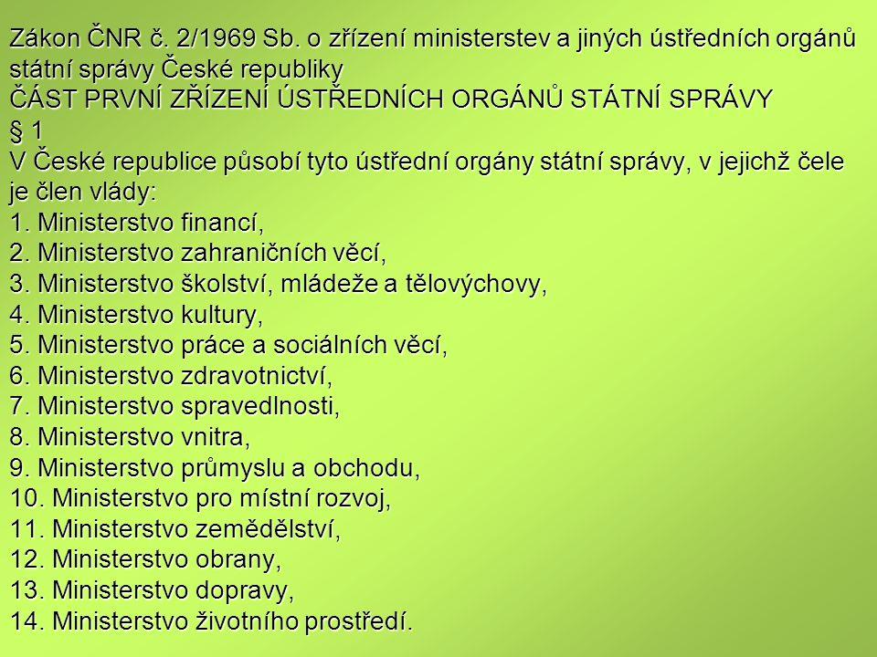 Zákon ČNR č. 2/1969 Sb.