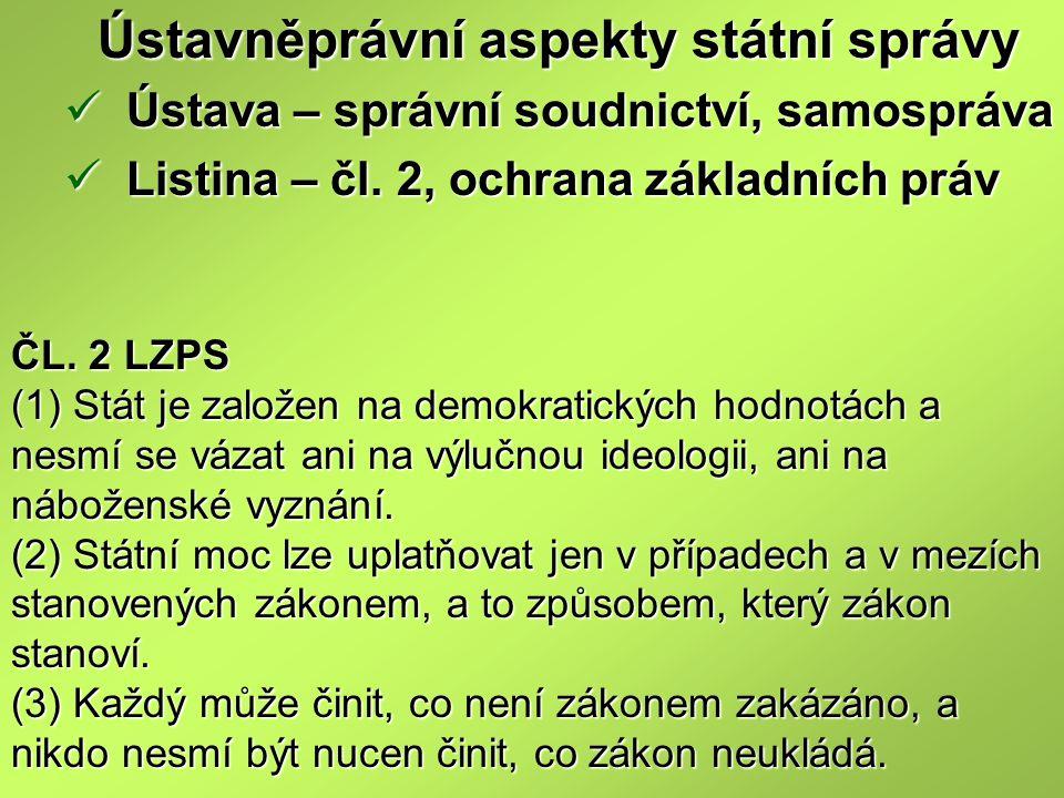 Ústavněprávní aspekty státní správy