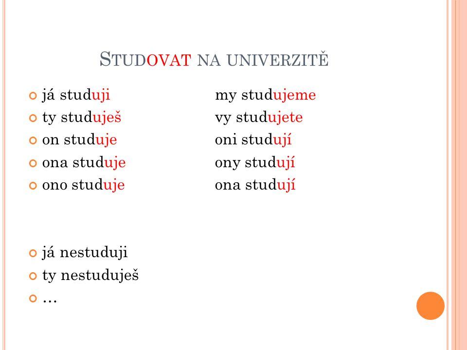 Studovat na univerzitě