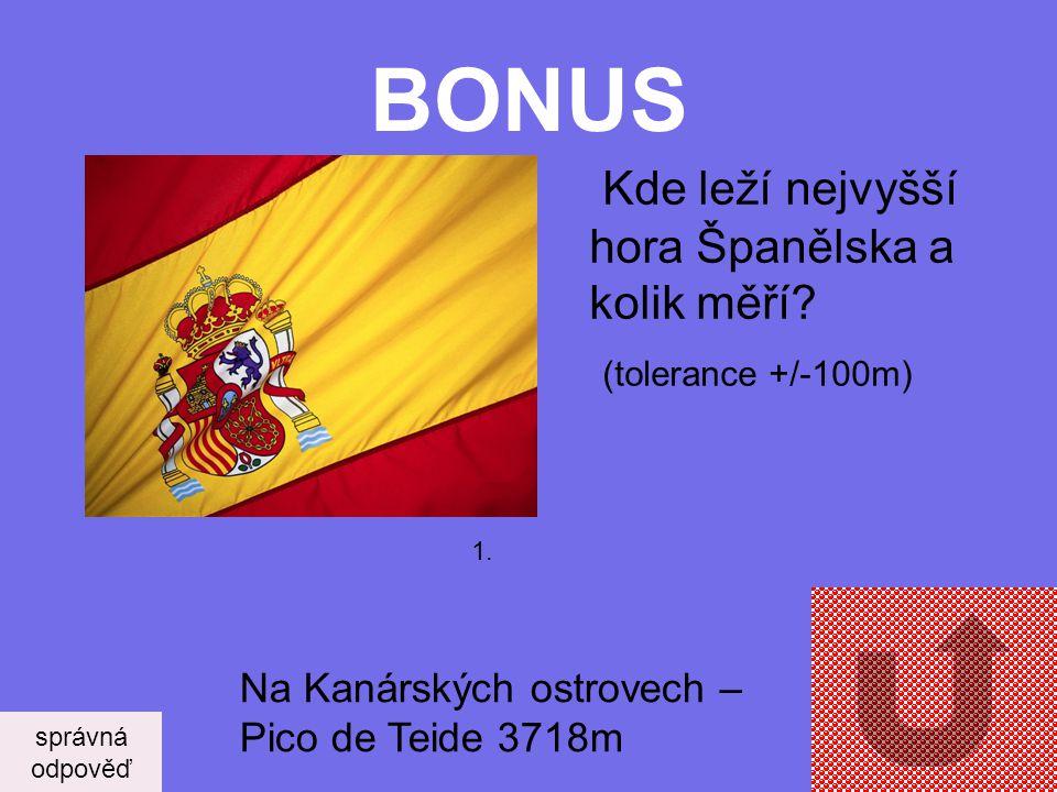 BONUS Kde leží nejvyšší hora Španělska a kolik měří