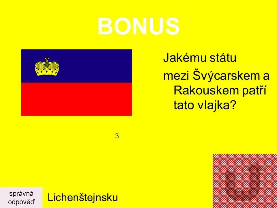 BONUS Jakému státu mezi Švýcarskem a Rakouskem patří tato vlajka