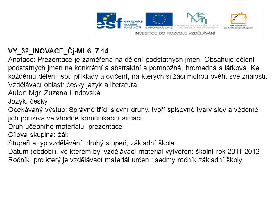 VY_32_INOVACE_Čj-Ml 6.,7.14