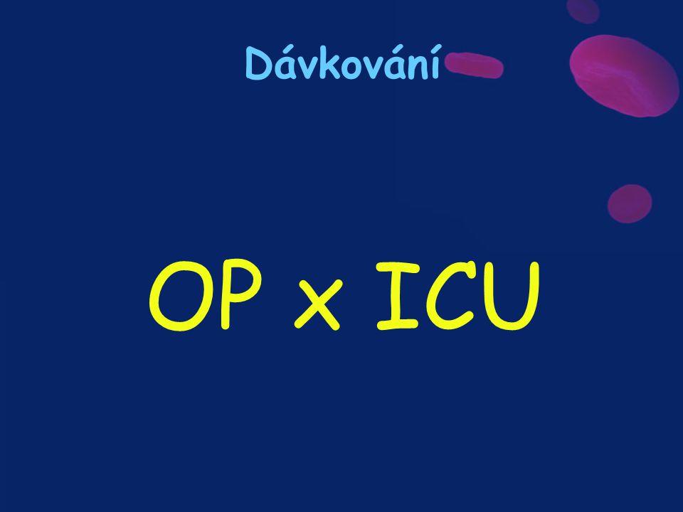 Dávkování OP x ICU
