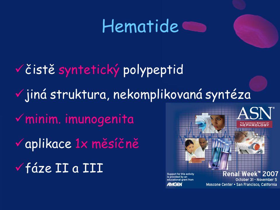 Hematide čistě syntetický polypeptid