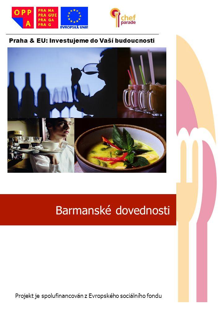 Barmanské dovednosti 1 Praha & EU: Investujeme do Vaší budoucnosti