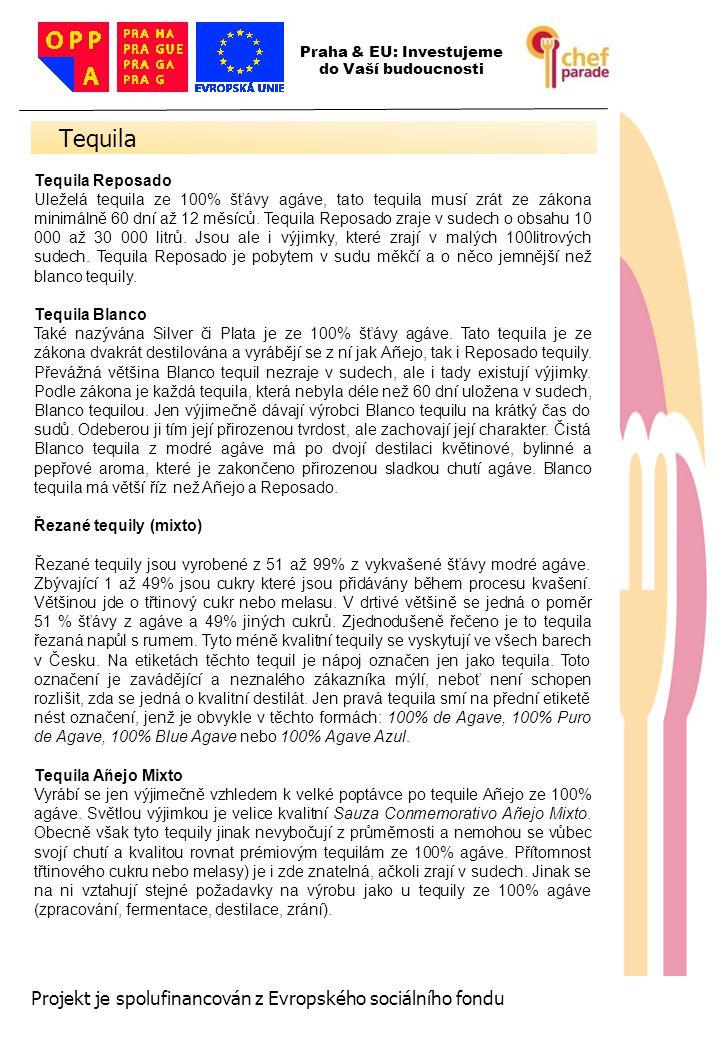 Tequila 36 Projekt je spolufinancován z Evropského sociálního fondu
