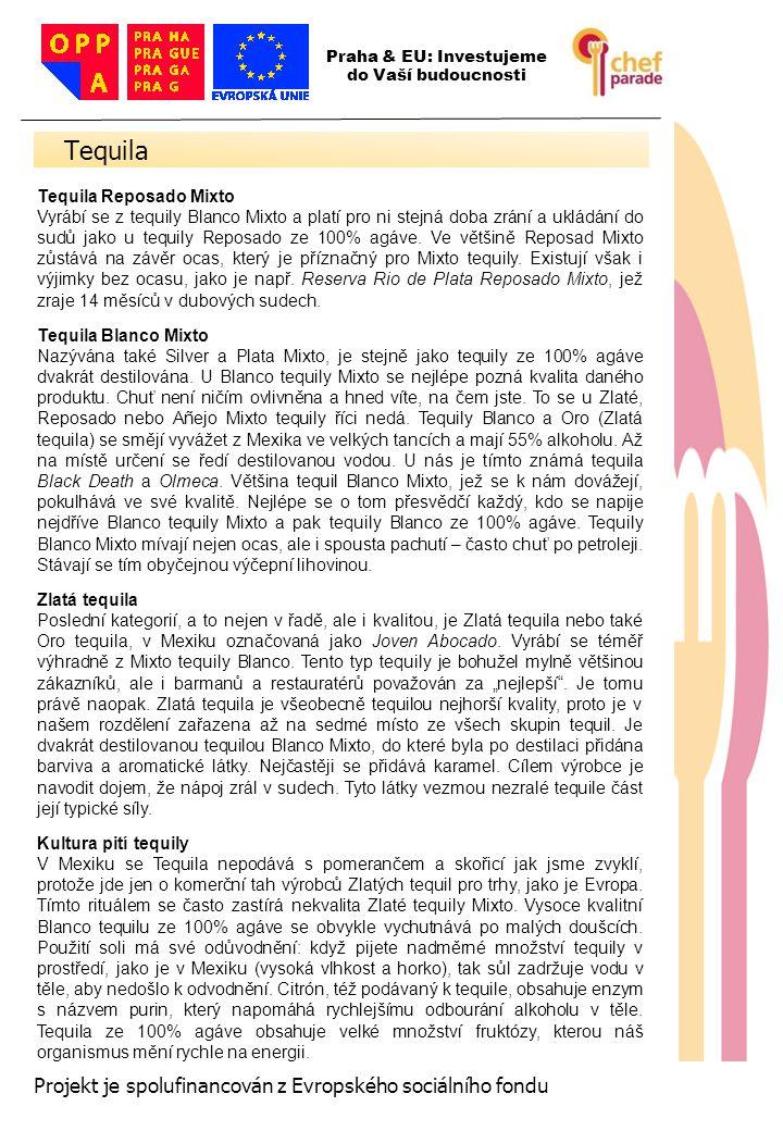 Tequila 37 Projekt je spolufinancován z Evropského sociálního fondu