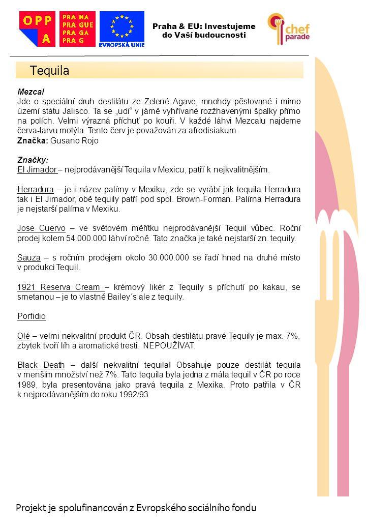 Tequila 38 Projekt je spolufinancován z Evropského sociálního fondu