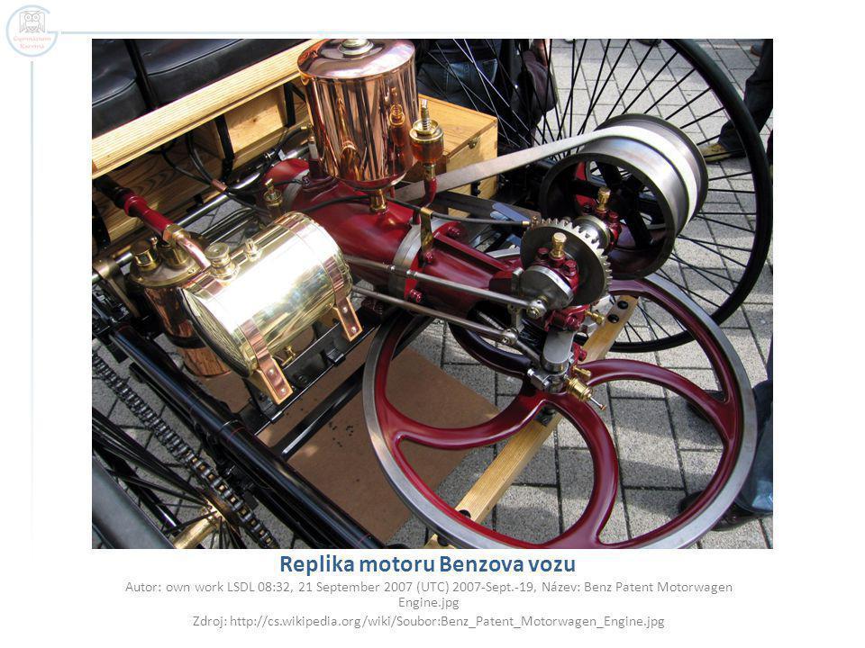 Replika motoru Benzova vozu