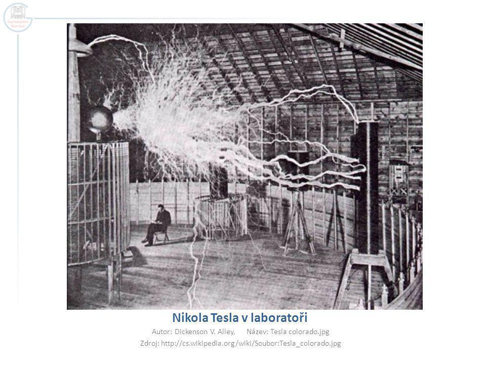 Nikola Tesla v laboratoři