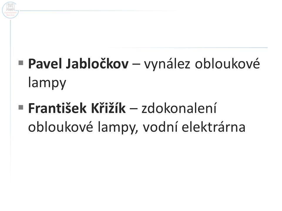 Pavel Jabločkov – vynález obloukové lampy