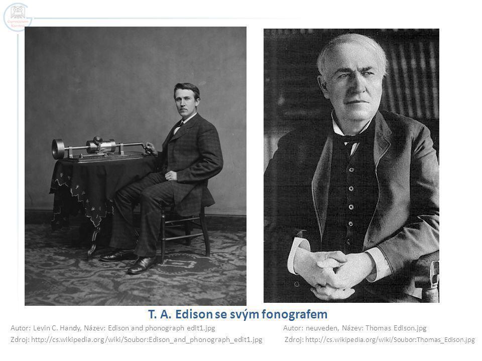 T. A. Edison se svým fonografem
