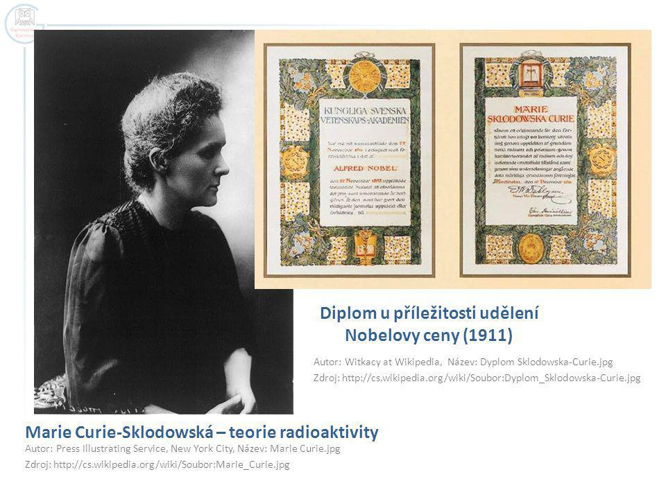 Marie Curie-Sklodowská – teorie radioaktivity