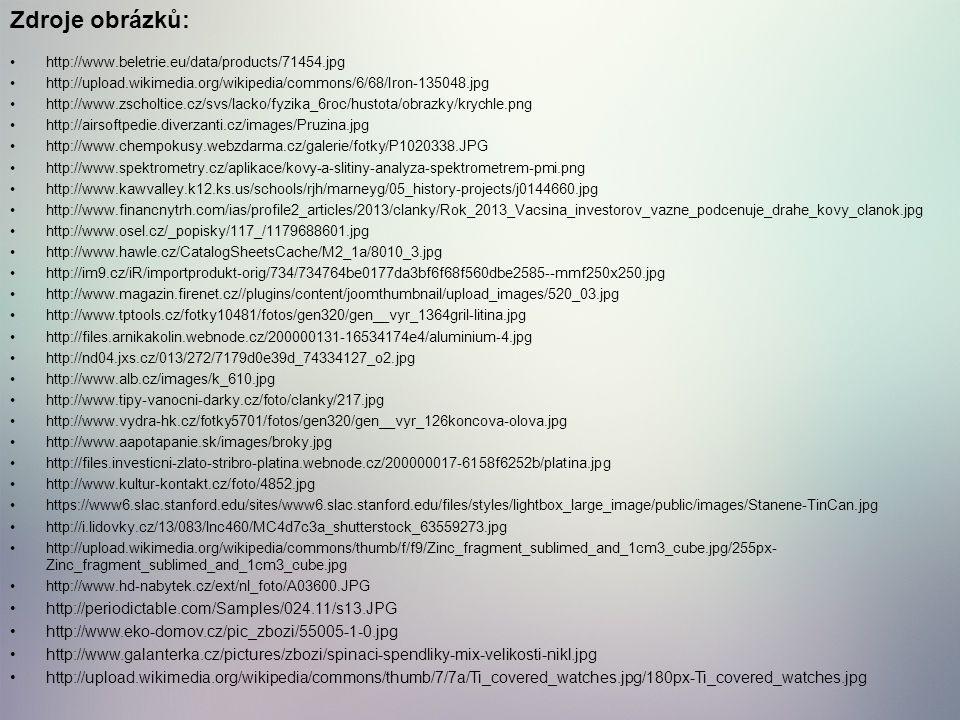 Zdroje obrázků: http://periodictable.com/Samples/024.11/s13.JPG