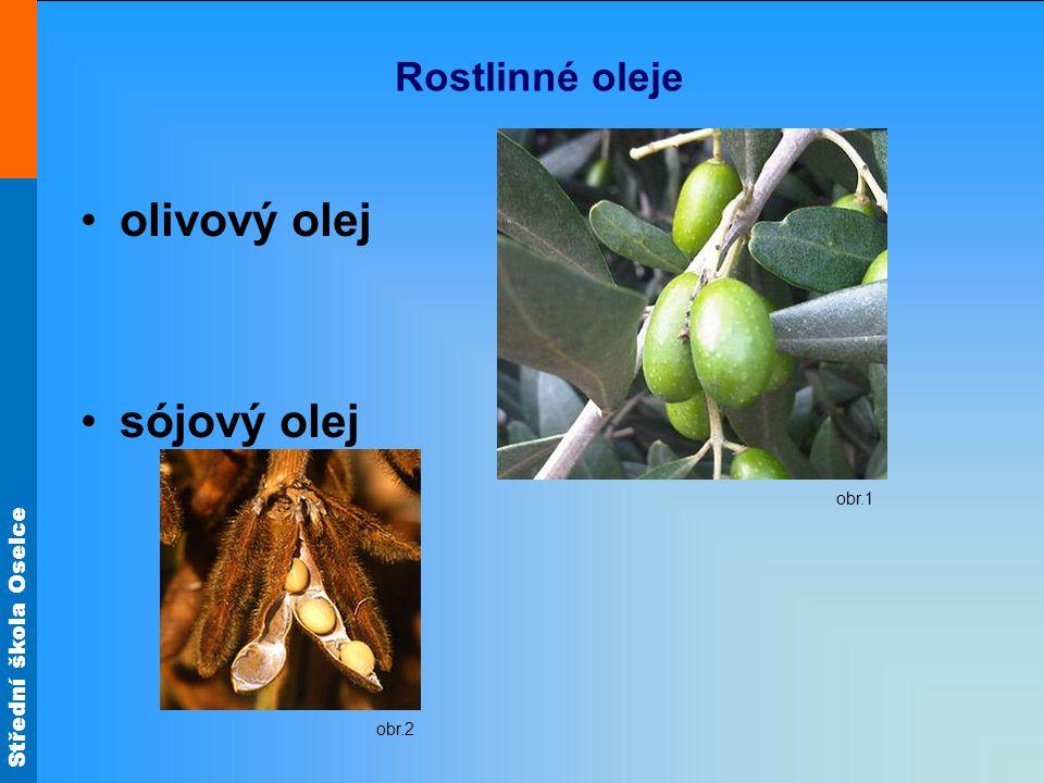 Rostlinné oleje olivový olej sójový olej obr.1 obr.2