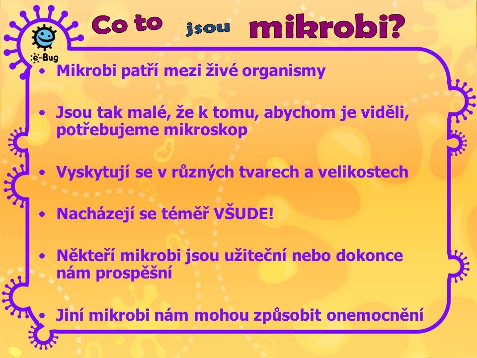 Mikrobi patří mezi živé organismy