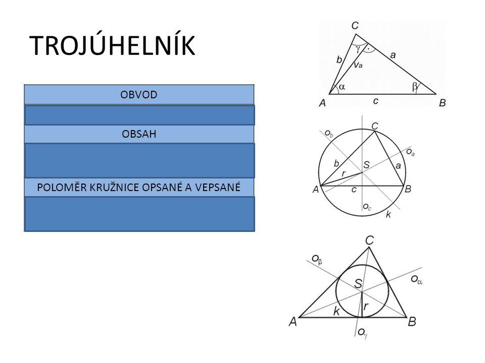 Poloměr kružnice opsané A VEPSANÉ