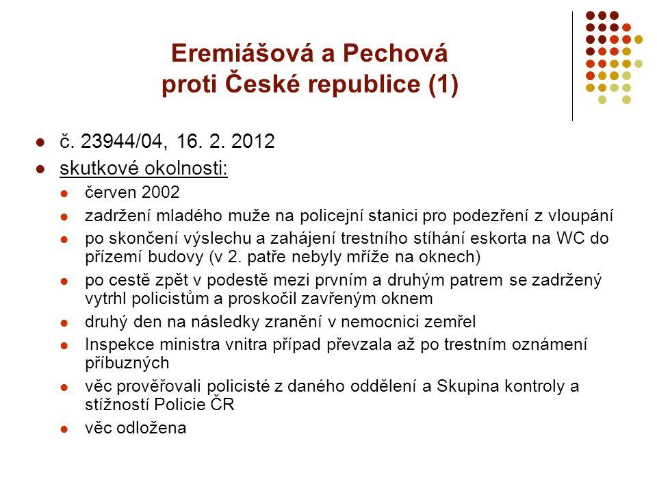 Eremiášová a Pechová proti České republice (1)