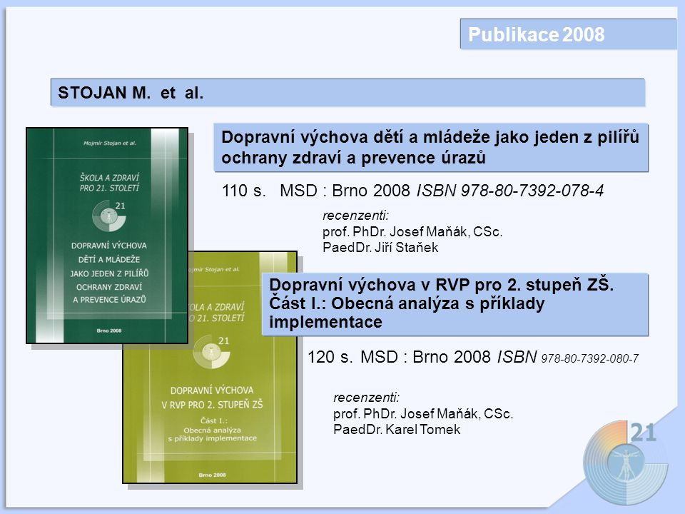 Publikace 2008 STOJAN M. et al.