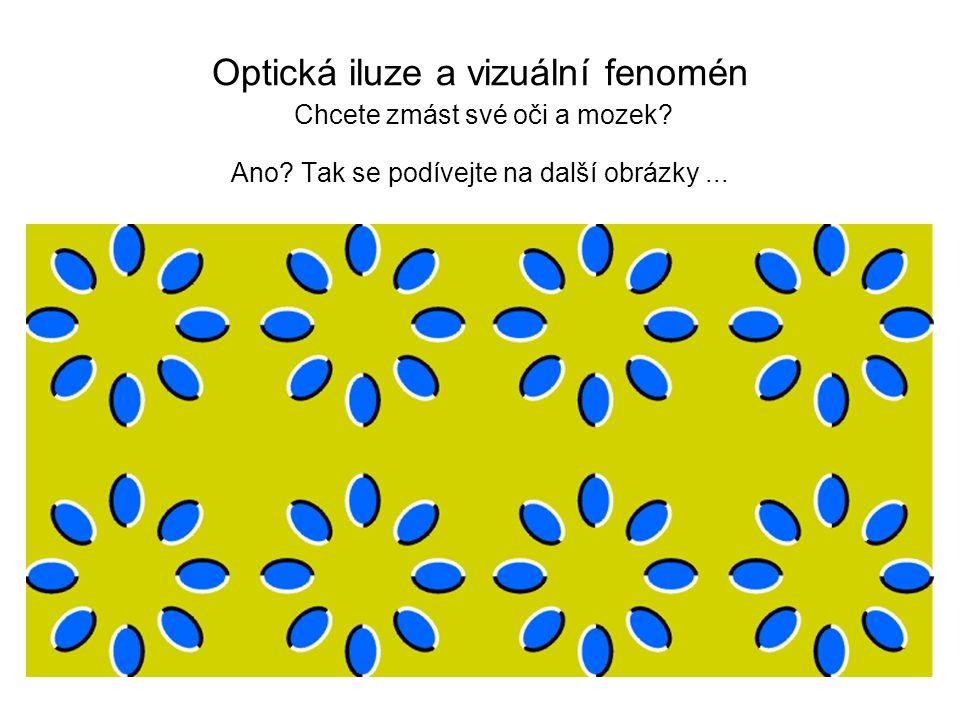 Optická iluze a vizuální fenomén Chcete zmást své oči a mozek. Ano