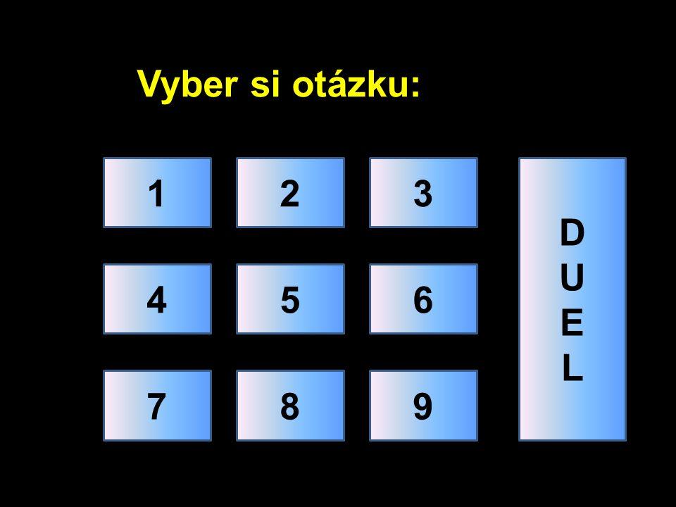 Vyber si otázku: 1 2 3 D U E L 4 5 6 7 8 9