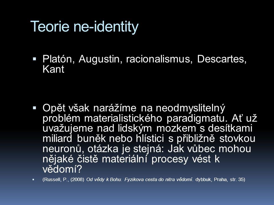 Teorie ne-identity Platón, Augustin, racionalismus, Descartes, Kant