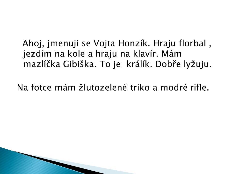 Ahoj, jmenuji se Vojta Honzík