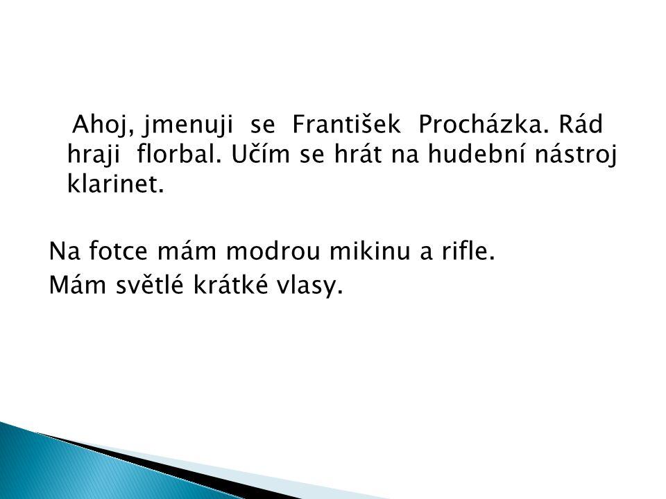 Ahoj, jmenuji se František Procházka. Rád hraji florbal