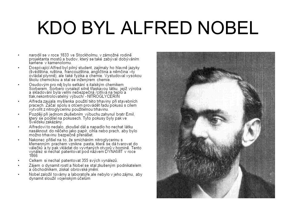 KDO BYL ALFRED NOBEL