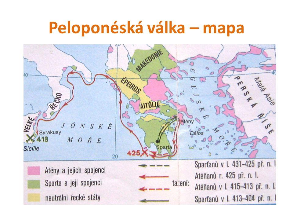 Peloponéská válka – mapa