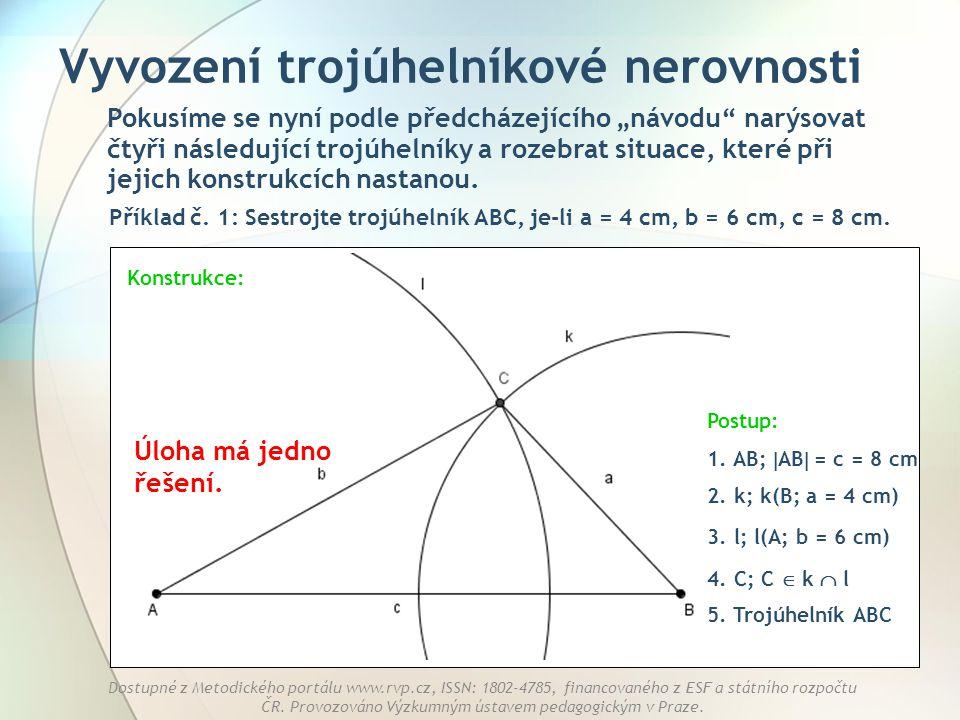 Vyvození trojúhelníkové nerovnosti