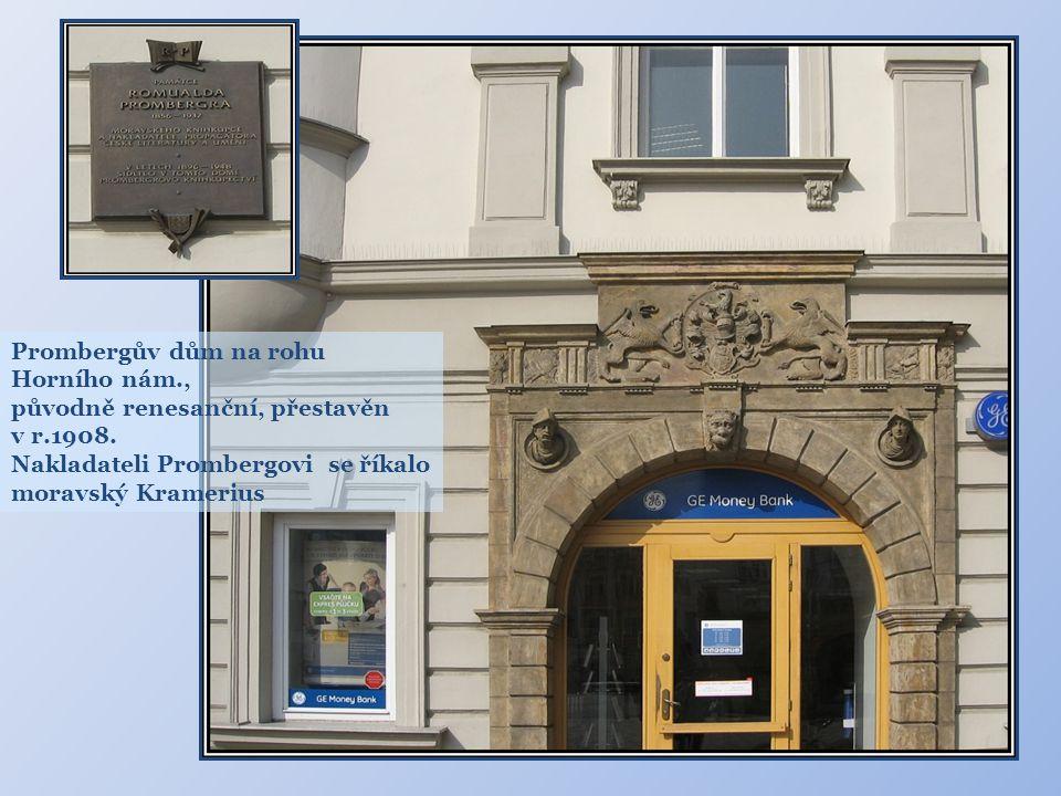 Prombergův dům na rohu Horního nám.,