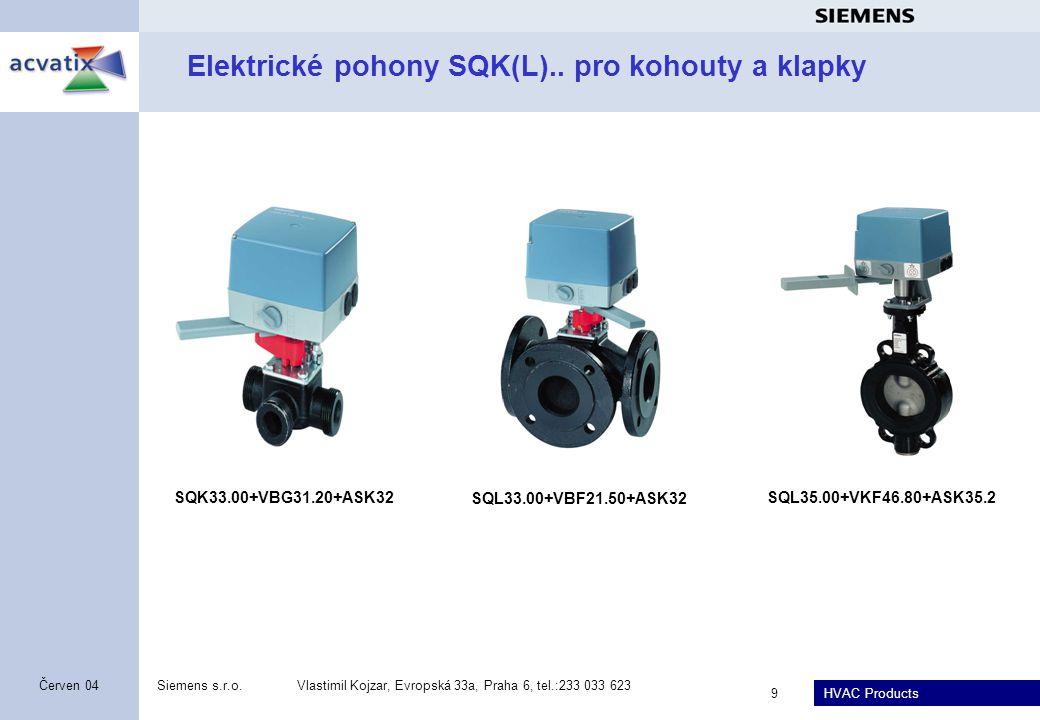 Elektrické pohony SQK(L).. pro kohouty a klapky