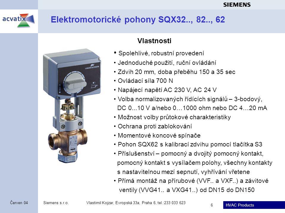 Elektromotorické pohony SQX32.., 82.., 62
