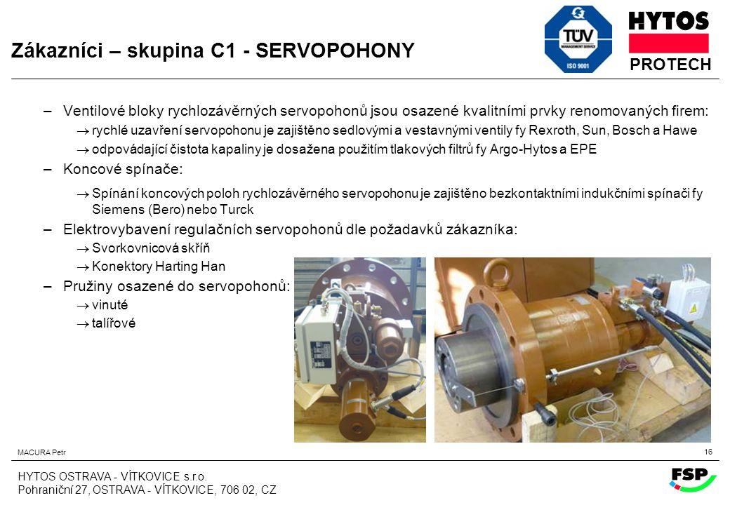 Zákazníci – skupina C1 - SERVOPOHONY