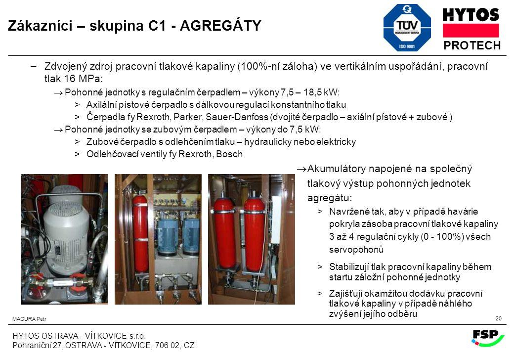 Zákazníci – skupina C1 - AGREGÁTY