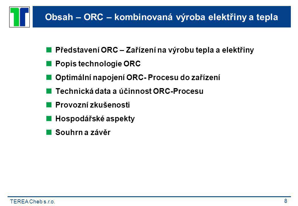 Obsah – ORC – kombinovaná výroba elektřiny a tepla