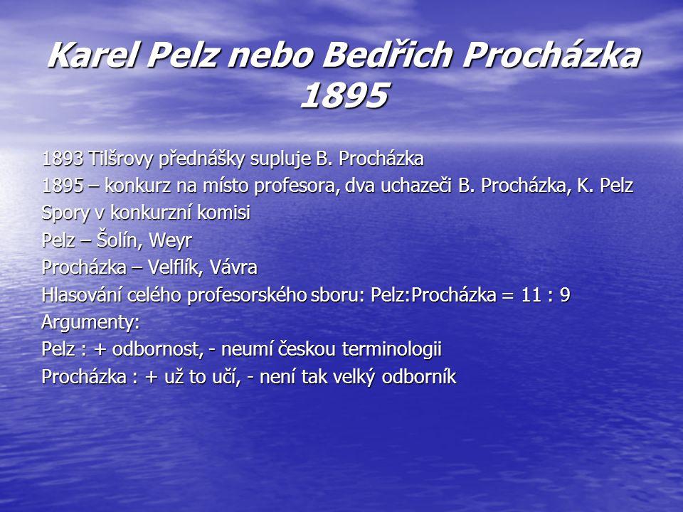 Karel Pelz nebo Bedřich Procházka 1895