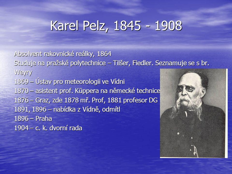 Karel Pelz, 1845 - 1908 Absolvent rakovnické reálky, 1864
