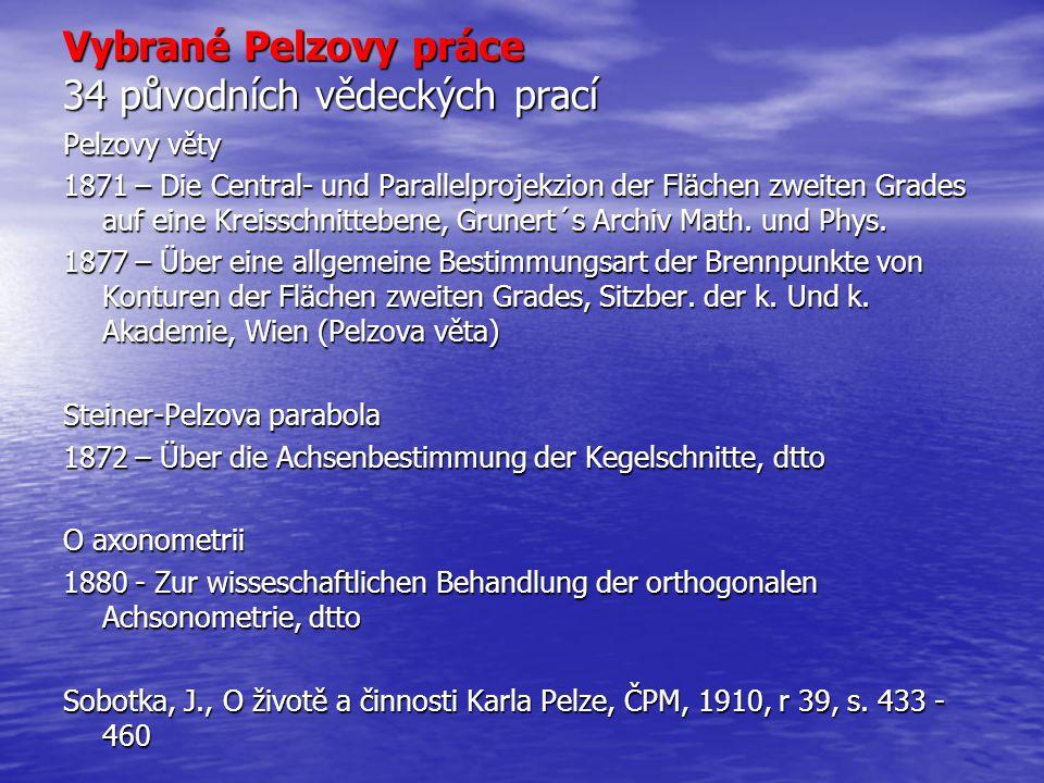 Vybrané Pelzovy práce 34 původních vědeckých prací