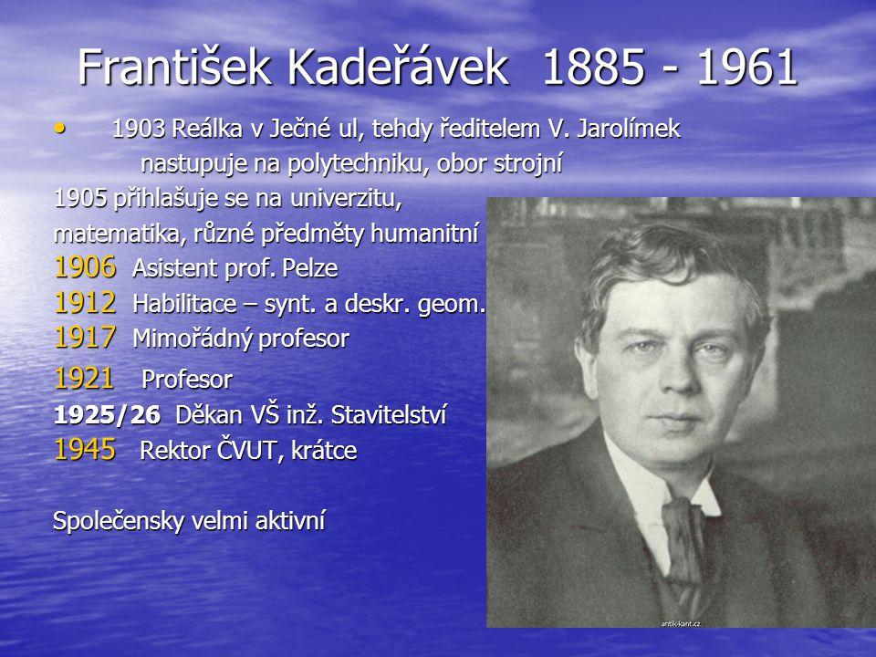 František Kadeřávek 1885 - 1961 1921 Profesor