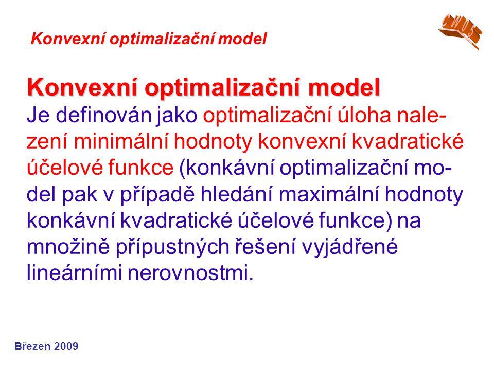 CW05 Konvexní optimalizační model.