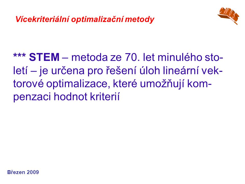CW05 Vícekriteriální optimalizační metody.