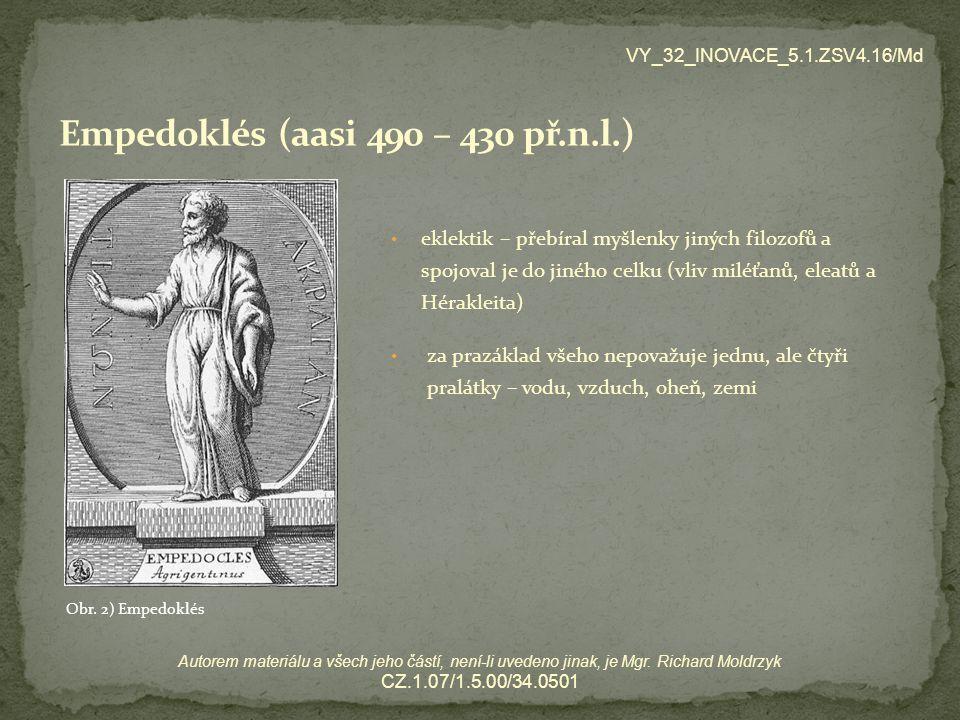 Empedoklés (aasi 490 – 430 př.n.l.)