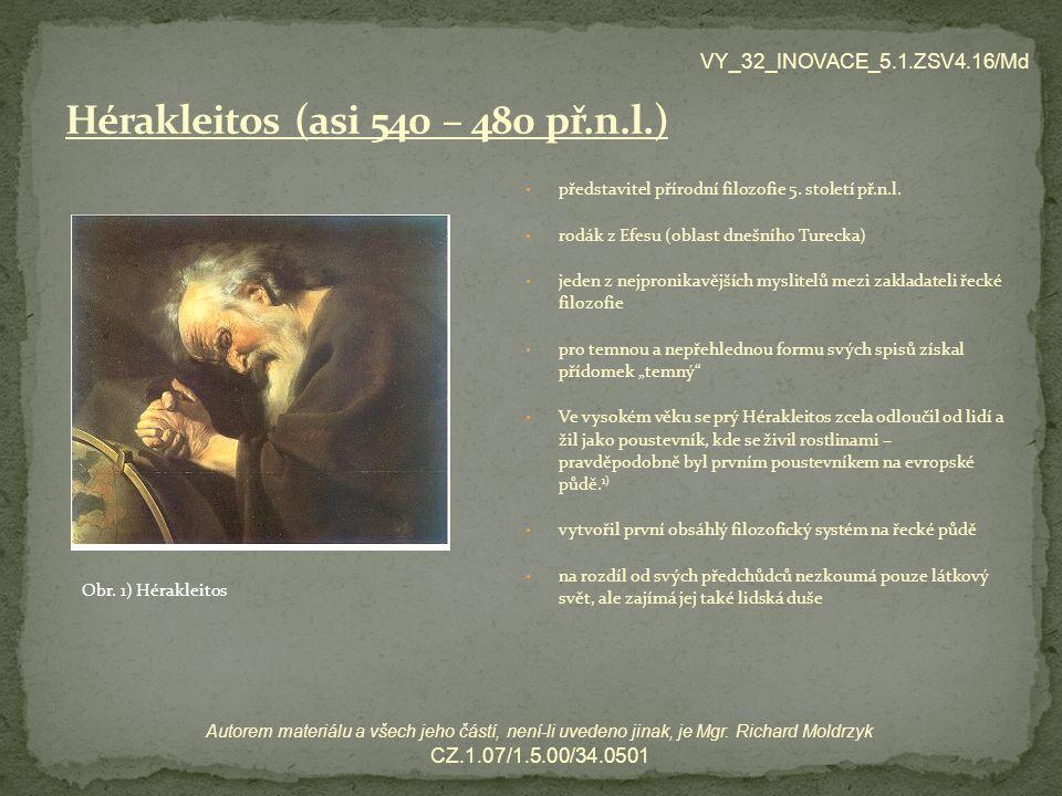 Hérakleitos (asi 540 – 480 př.n.l.)