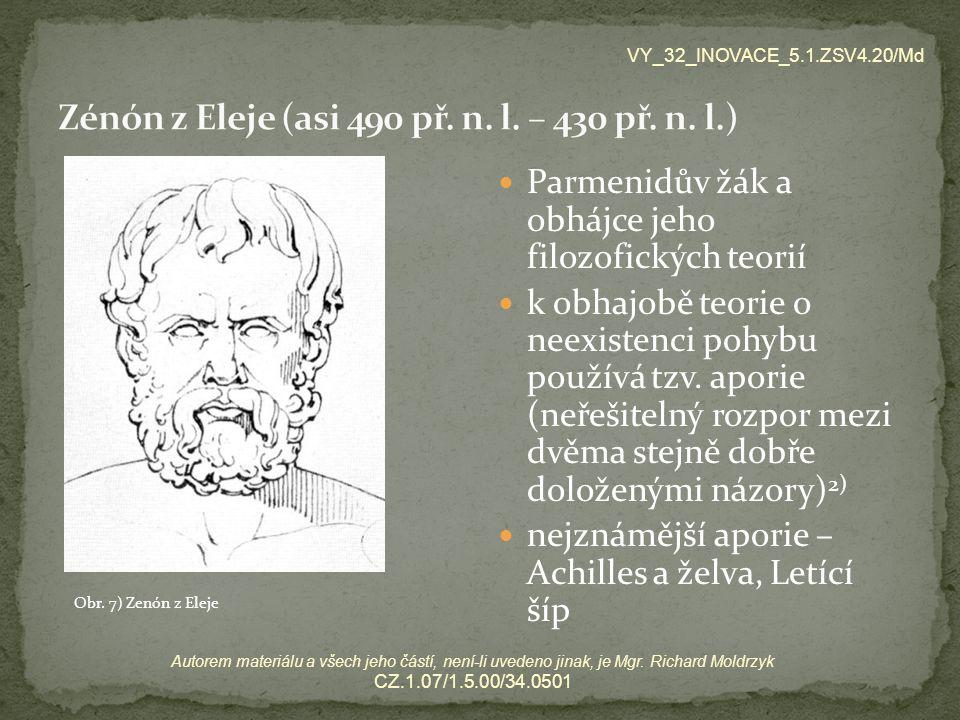 Zénón z Eleje (asi 490 př. n. l. – 430 př. n. l.)