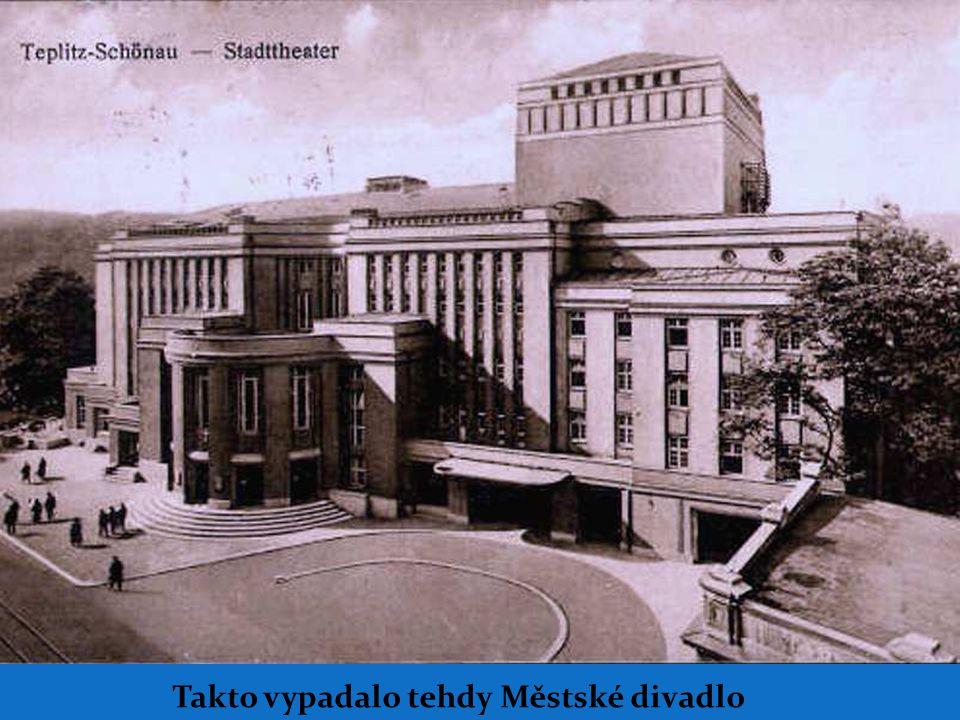 Takto vypadalo tehdy Městské divadlo