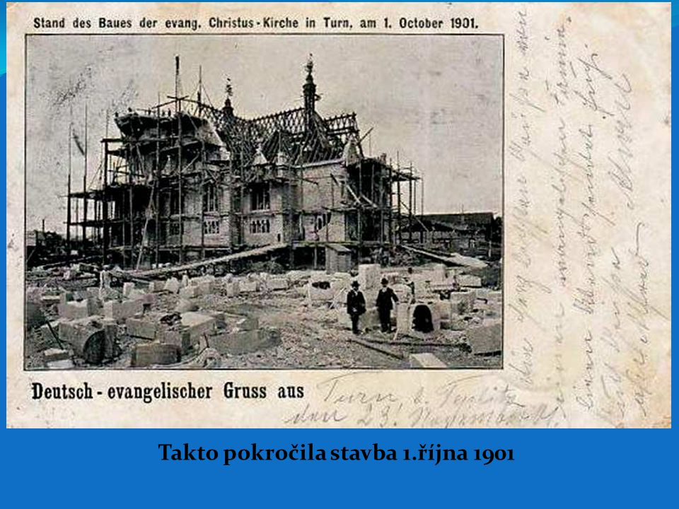 Takto pokročila stavba 1.října 1901